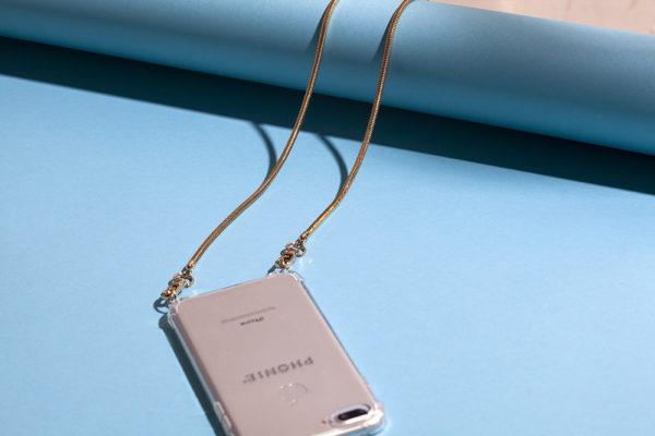Phonie Handykette, Smartphonenecklace, Smartphonezubehör, Handyzubehör, Handykette Gold