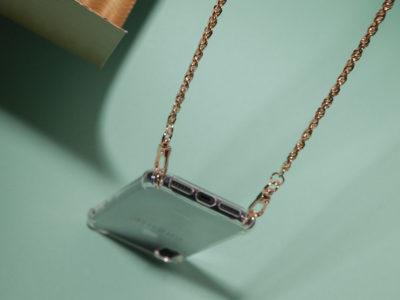 Phonie Handykette Ute, Gold Smartphone Necklace, Handykette Gold für iPhone, Handykette für Samsung
