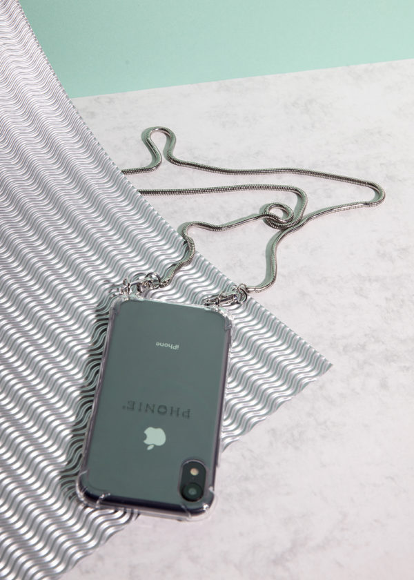 Phonie Handykette, Handykette in Silber, Handykette in Gold, Smartphone Necklace für iPhone, Smartphonenecklace für Samsung, Accessoire für Handy